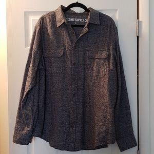 EUC Mossimo Grey Marled Flannel Shirt